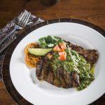 Flat Iron Steak with Chimichurri Sauce