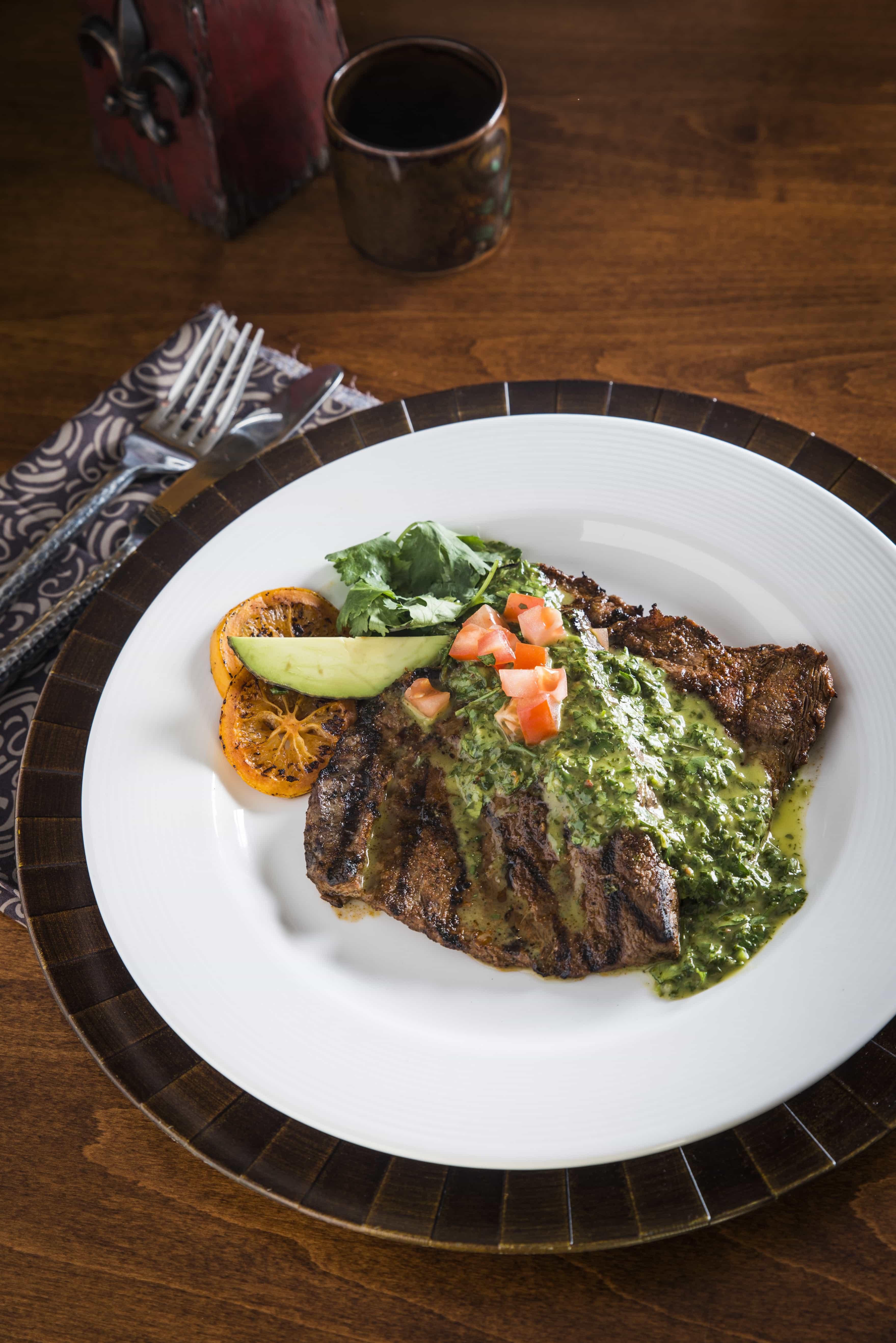 Grilled Flat Iron Steak With Chimichurri Sauce Recipe ...