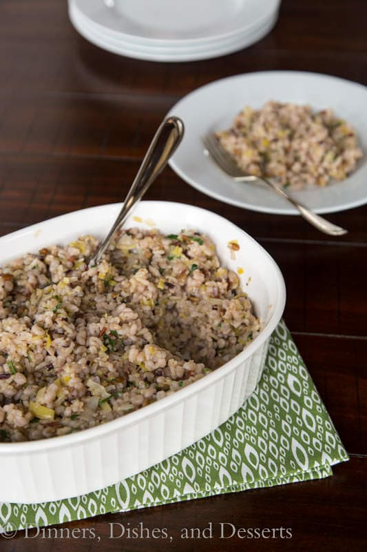 Multigrain Pilaf with Sunflower Seeds is a great side to have for the holidays!  Doesn't take up any oven space!