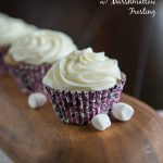Sweet Potato Cupcakes - Turn one of your favorite side dishes into dessert! Moist spiced sweet potato cupcakes topped with a marshmallow frosting are a great dessert for fall!