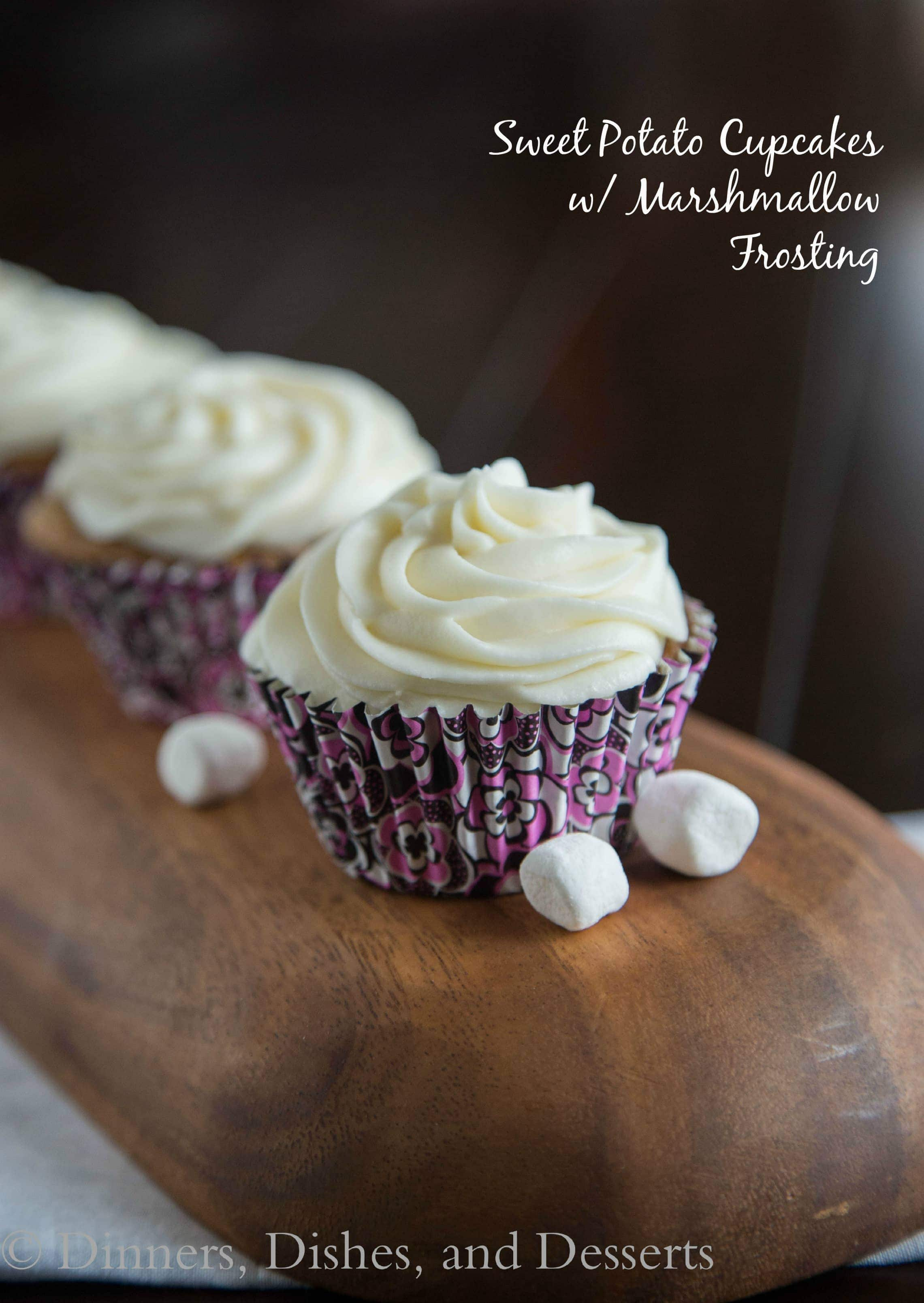 Sweet Potato Cupcakes with Marshmallow Frosting – Turn one of your ...