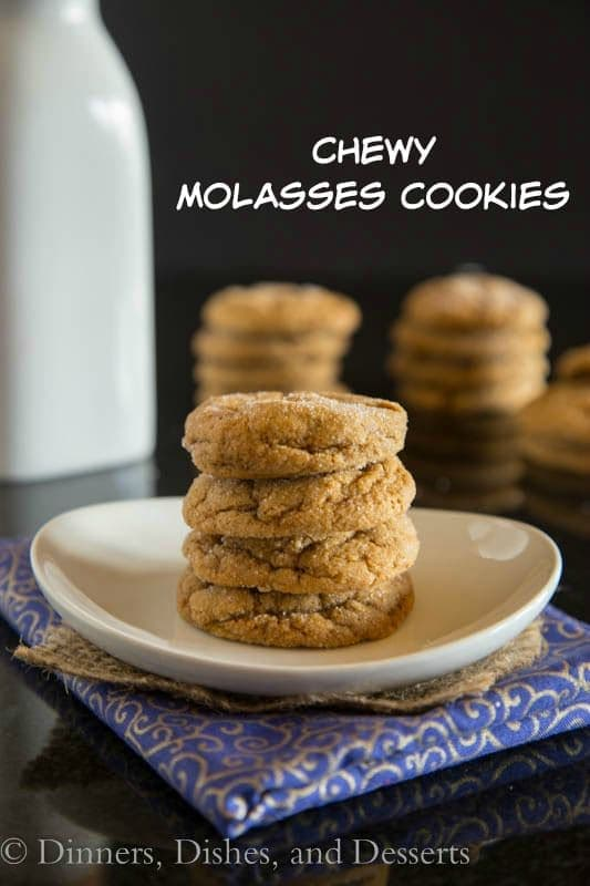 Chewy Molasses Cookies - Perfectly spiced, tender and chewy molasses cookie that are perfect for any holiday baking tray!