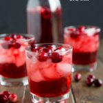 Cranberry Vodka Cocktail - cranberry juice and vodka come together with a little fizz for a fun and easy holiday drink.