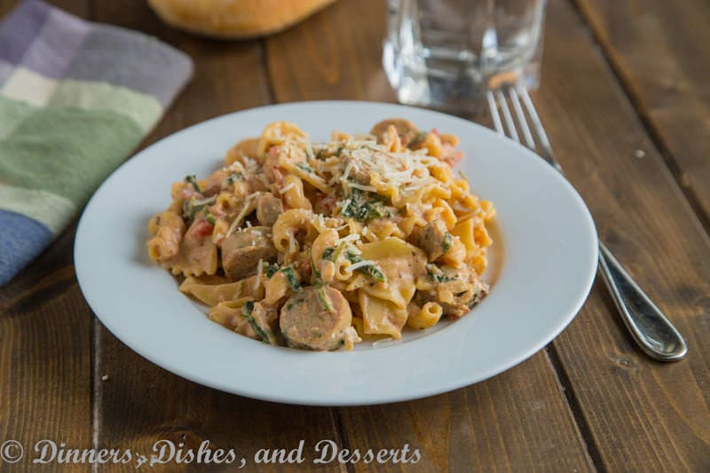 sauce pasta with butternut sauce spicy sausage and baby spinach pasta ...