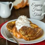Eggnog French Toast is the perfect breakfast for any holiday morning. All the great flavors of eggnog in a delicious breakfast.