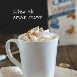 Cashew Milk Pumpkin Steamer #SilkCashew