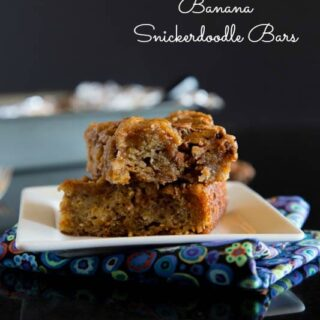 Banana Snickerdoodle Bars