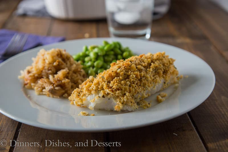 Cracker Crusted Cod {Dinners, Dishes, and Desserts}