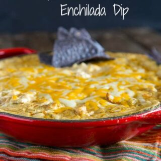 Green Chile Chicken Enchilada Dip