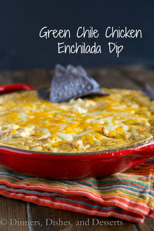 Chile Chicken Enchilada Dip - Bubbling hot gooey, cheesy enchilada ...