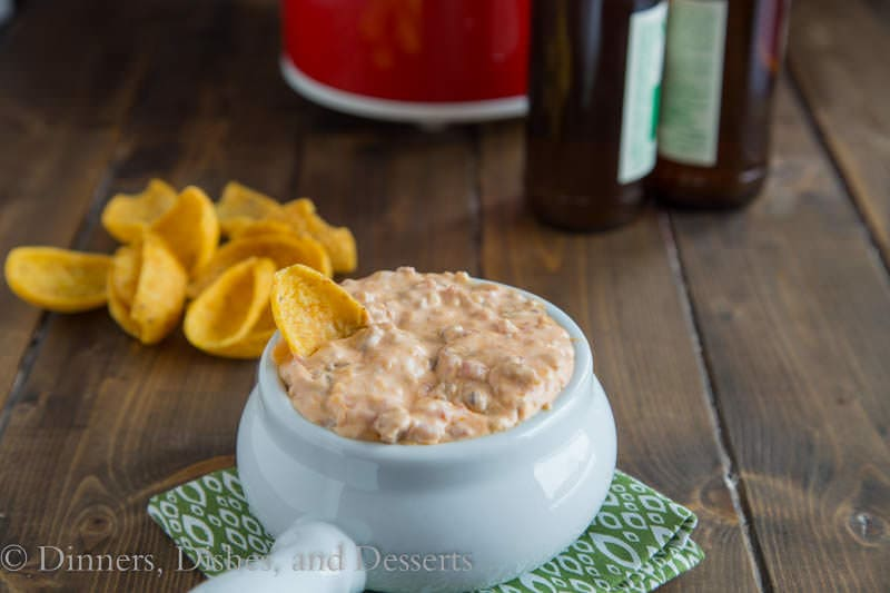 Hot Sausage Dip {Dinners, Dishes, and Desserts}