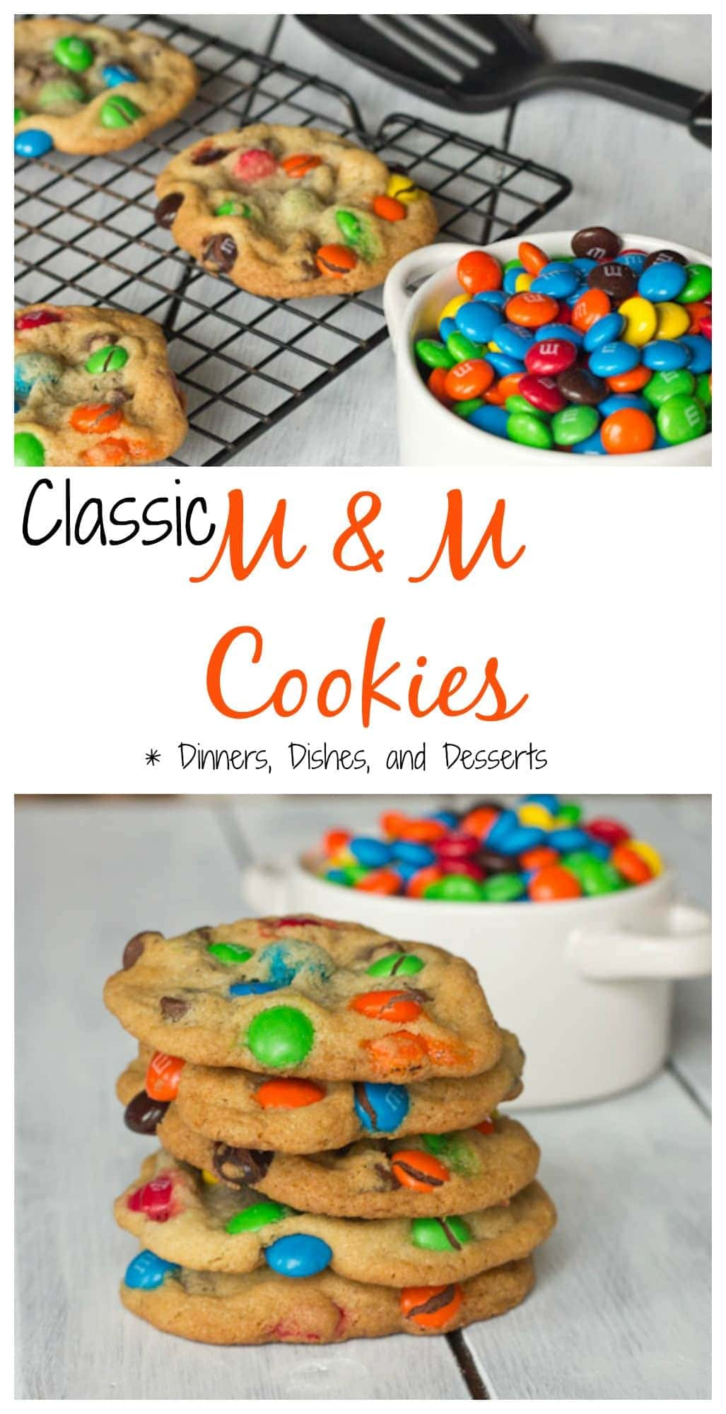 Classic M&M Cookies are chewy, soft, and super chocolate-y