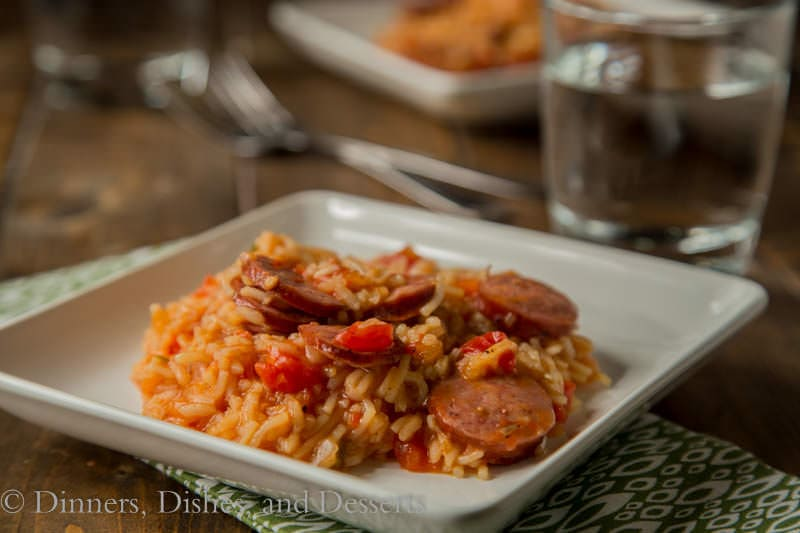 spanish rice skillet on a plate