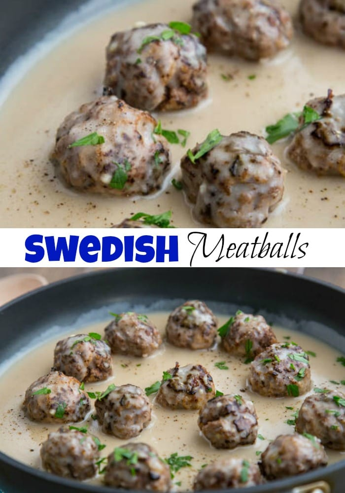 Swedish Meatballs - Classic Swedish Meatballs seasoned with nutmeg and allspice, served in a rich beef gravy.  Perfect over egg noodles or mashed potatoes.
