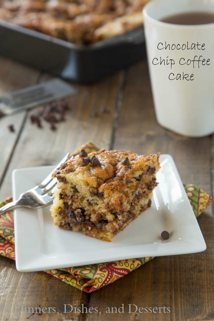 Chocolate Chip Coffee Cake – A light and fluffy coffee cake with a ...