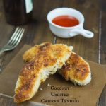 Coconut Crusted Chicken Tenders - super crispy chicken tenders that are coated in shredded coconut!