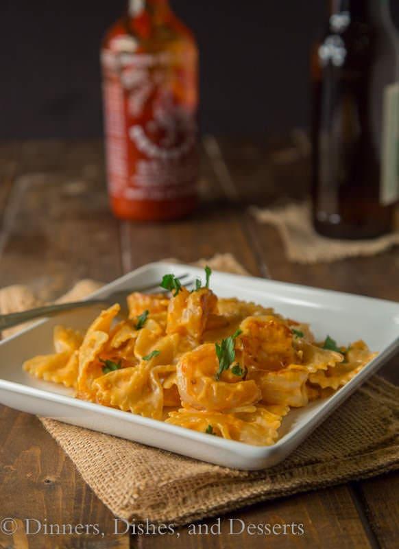 Bang Bang Shrimp Pasta - a creamy pasta version of Bonefish's famous Bang Bang Shrimp