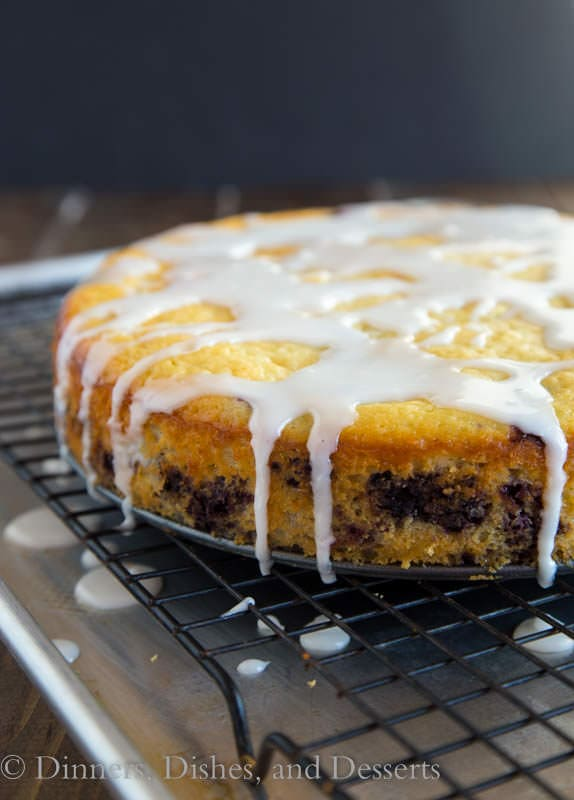 Lemon Blueberry Yogurt Cake - a super moist lemon yogurt cake studded ...