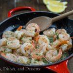 Lemon Garlic Shrimp {Dinners, Dishes, and Desserts}