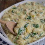 Creamy Spinach and Artichoke Gnocchi