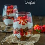 Strawberry Parfaits with Chocolate Angel Food Cake