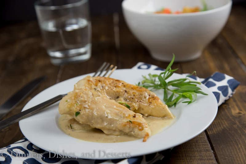 Chicken in Mustard-Tarragon Sauce {Dinners, Dishes, and Desserts}