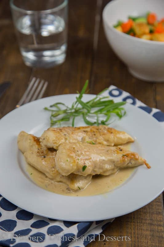 Chicken with Tarragon –Mustard Sauce is a creamy, tangy sauce that ...