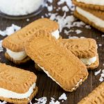 Coconut Cream Filled Biscoff Cookies
