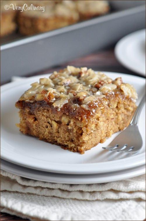 oatmeal cake on a plate