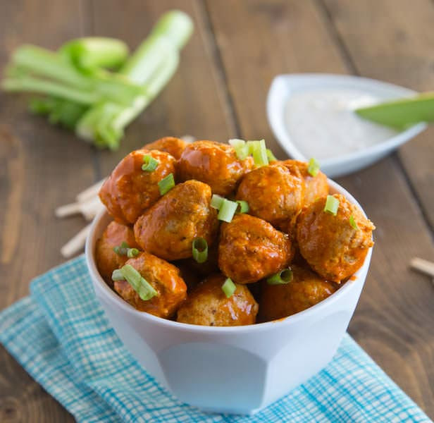 Buffalo Chicken Meatballs DDD 3 square