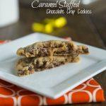 Caramel Stuffed Chocolate Chip Cookies