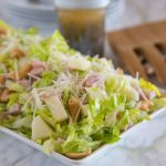 Pear, Cashew and Canadian Bacon Salad with Poppy Seed Dressing