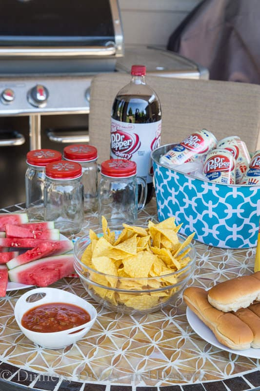 Easy summer entertaining set up