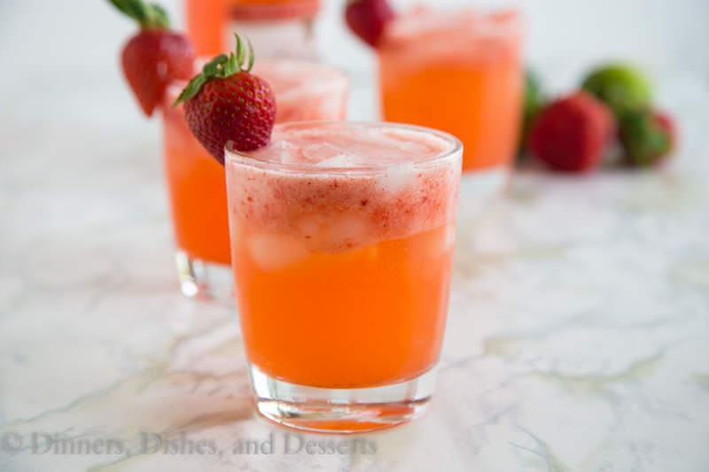 Strawberry Margarita Punch {Dinners, Dishes, and Desserts}