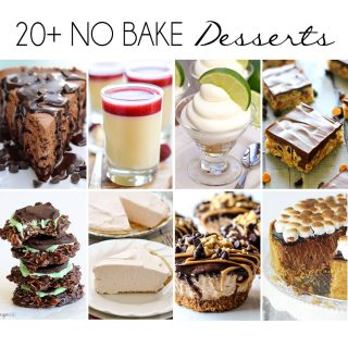 20+ No Bake Desserts - A round up of more than 20 no bake desserts that are perfect for this hot summer!