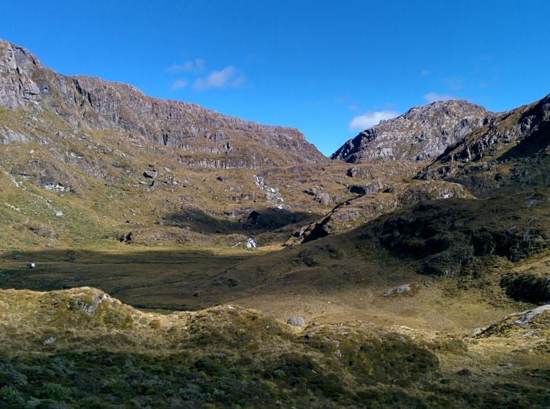 Our turnaround point on the Routeburn Track.  You can see Hooser Pass in the distance