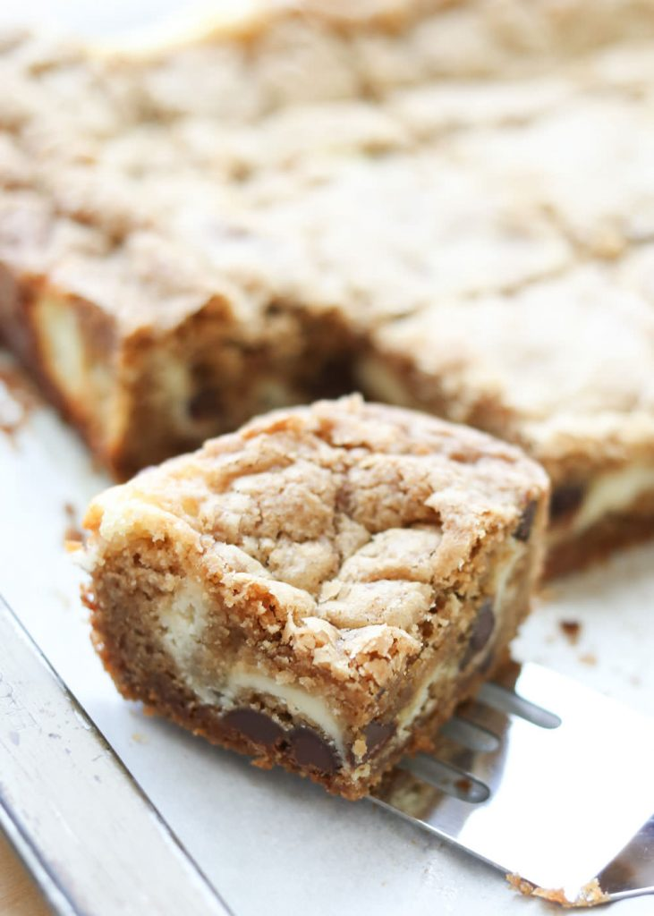 Cheesecake Cookie Bars {Barefeet in the Kitchen}