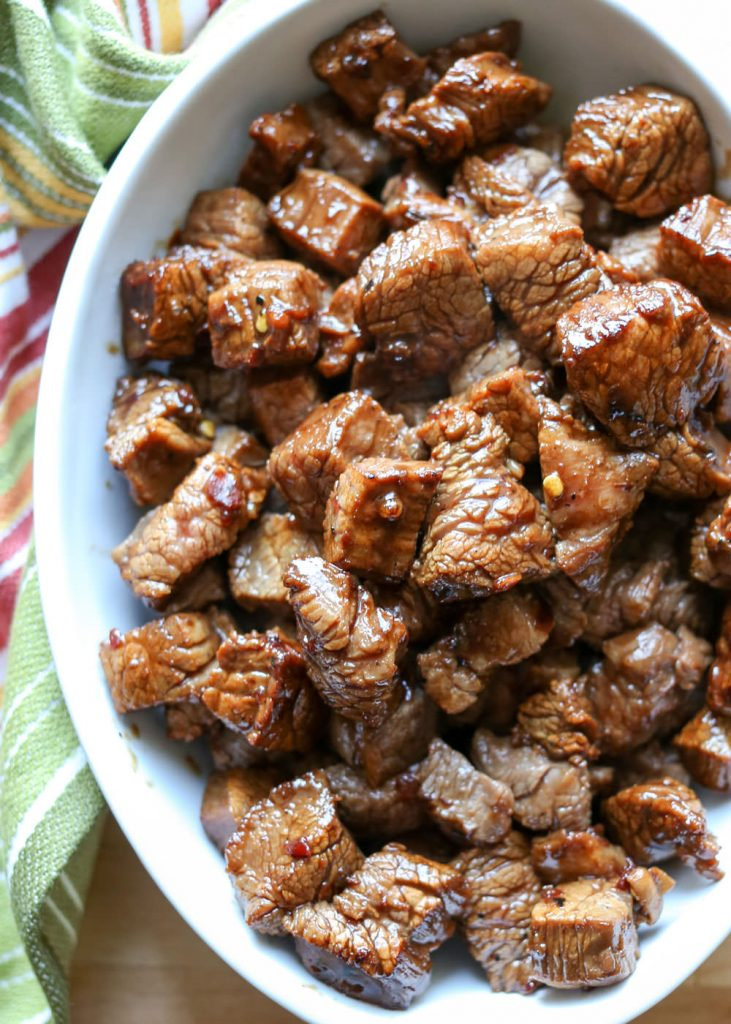 Asian Steak Bites {Barefeet in the Kitchen}