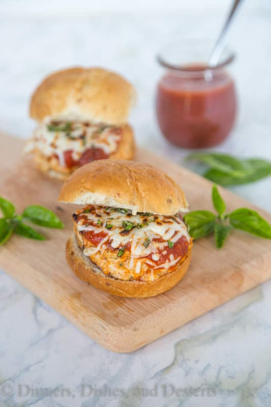 Parm-Style Chicken Burger - Turn the classic Chicken Parmesan into a delicious chicken burger!