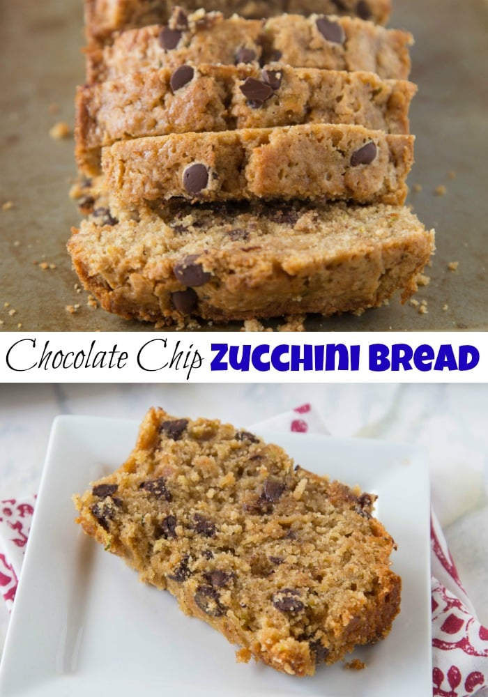 whole wheat zucchini bread with chocolate chips
