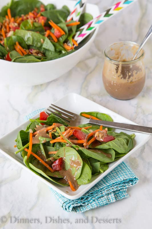 Creamy Balsamic Vinaigrette - Dress up your salads by turning classic balsamic vinaigrette in a healthy creamy dressing.