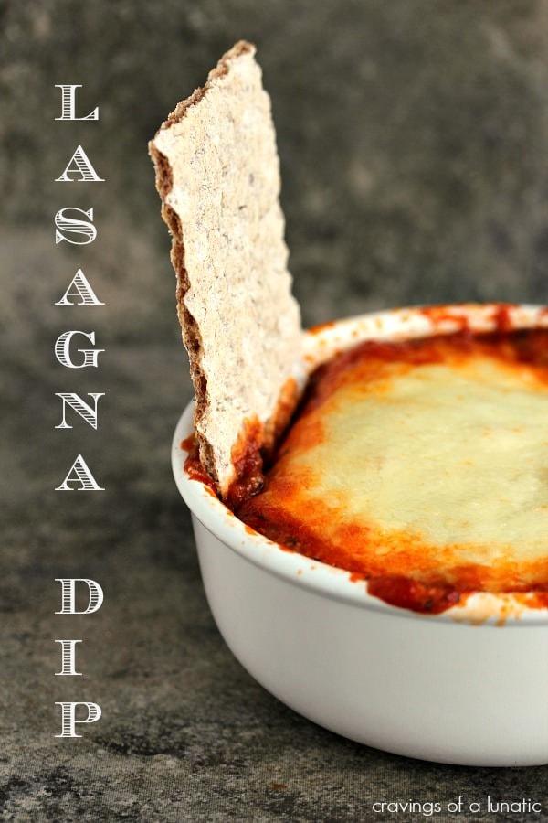 Lasagna Dip {Cravings of a Lunatic}