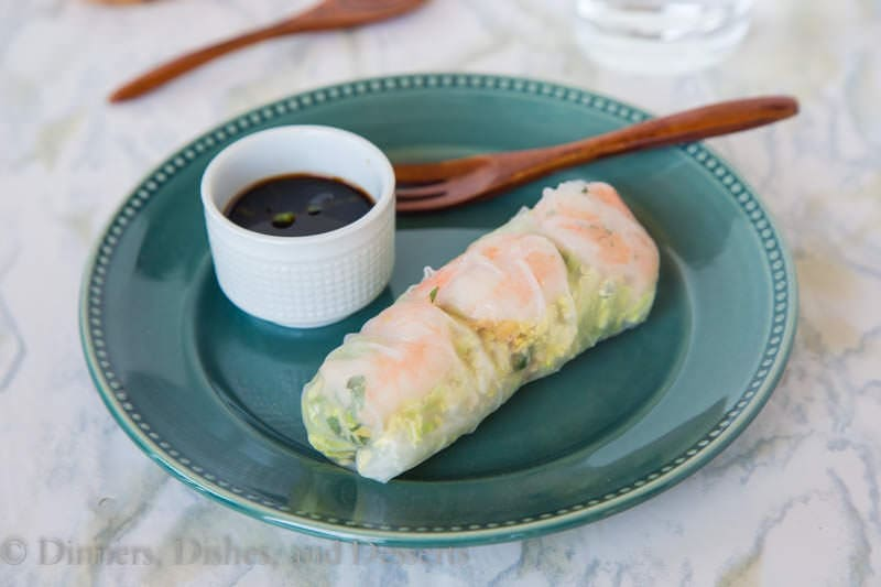 Shrimp Summer Rolls {Dinners, Dishes, and Desserts}
