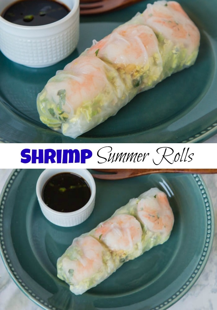 Shrimp Summer Rolls with Sesame Soy Dipping Sauce - a super refreshing, cool, crisp and great dinner to have this summer. Works as an appetizer or a meal.