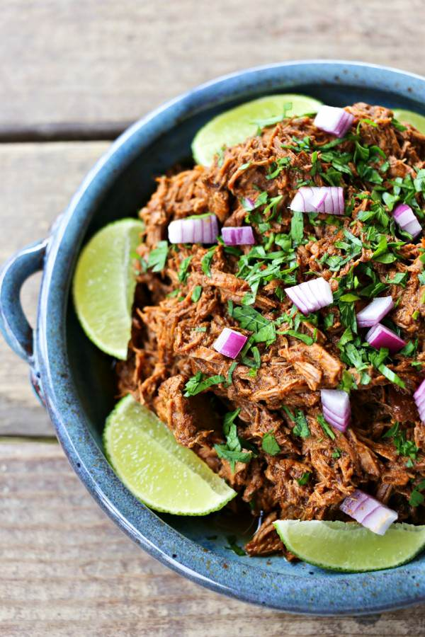 Slow Cooker Copycat Chipotle Pork Barbacoa {Foodie with Family}