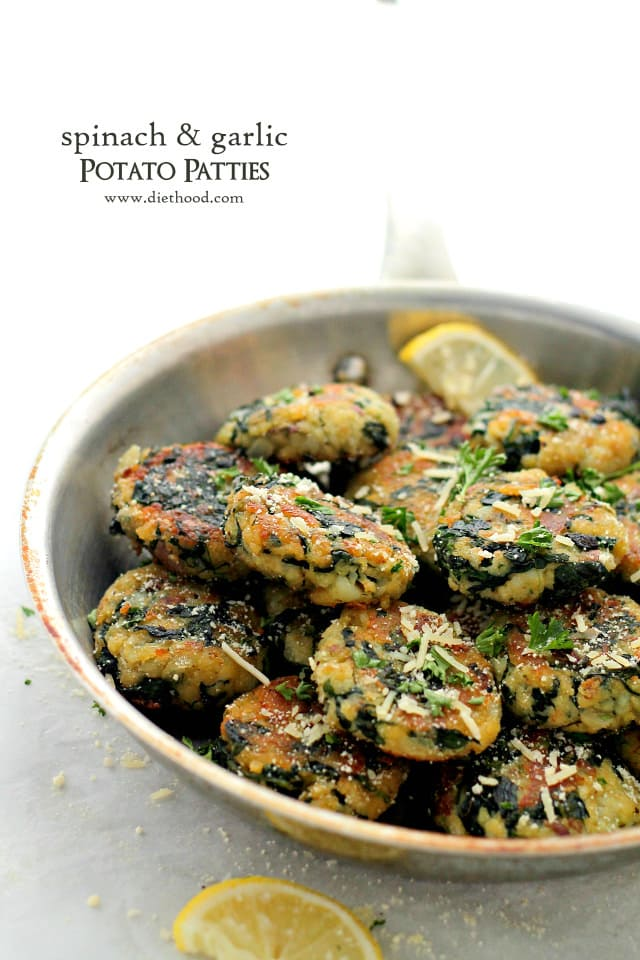 Spinach and Garlic Potato Patties Diethood