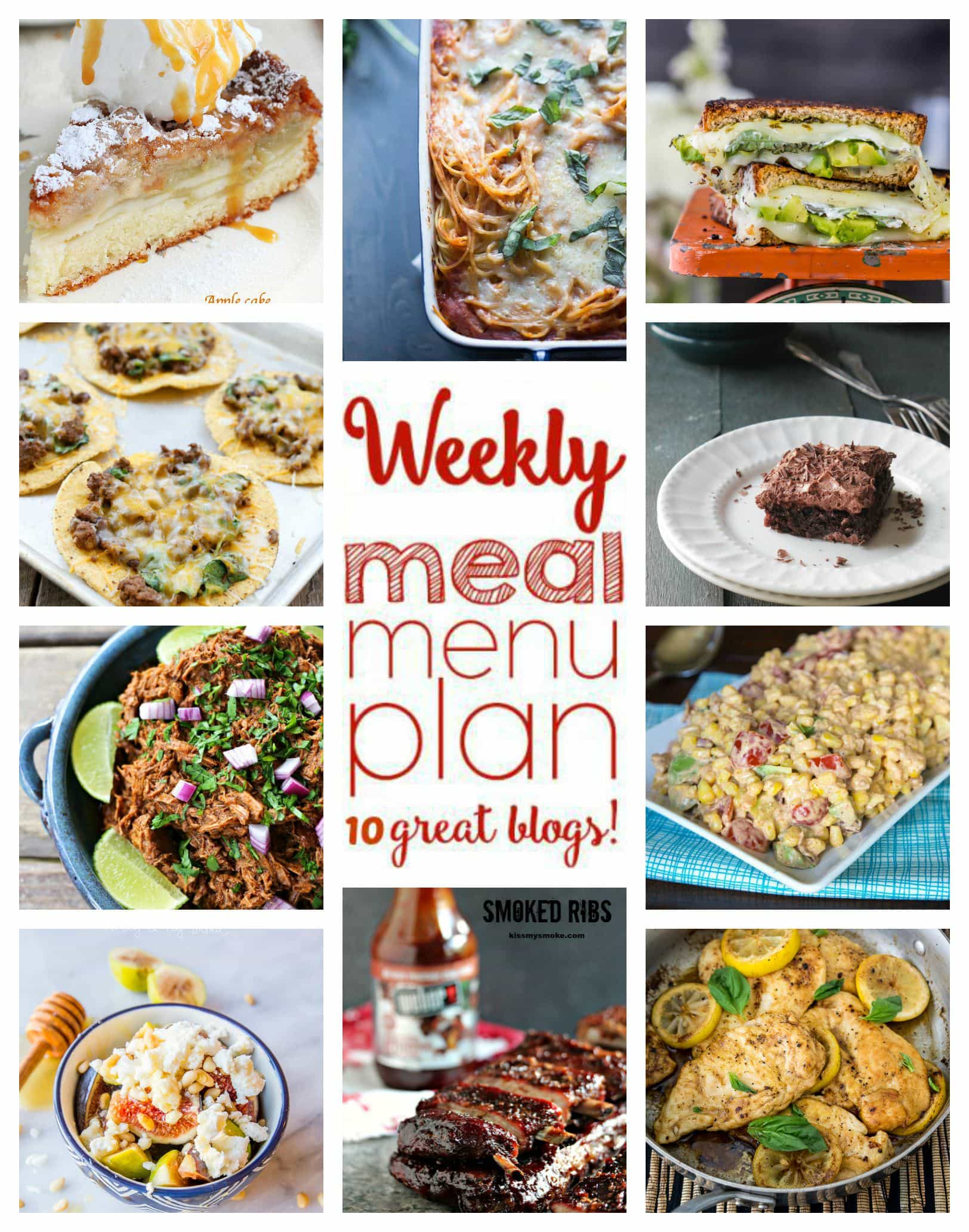 Easy Meal Plan Week Of August 31st To September 6th