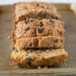 Whole Wheat Chocolate Chip Zucchini Bread - tender and moist zucchini bread made with whole wheat flour and lots of chocolate chips!