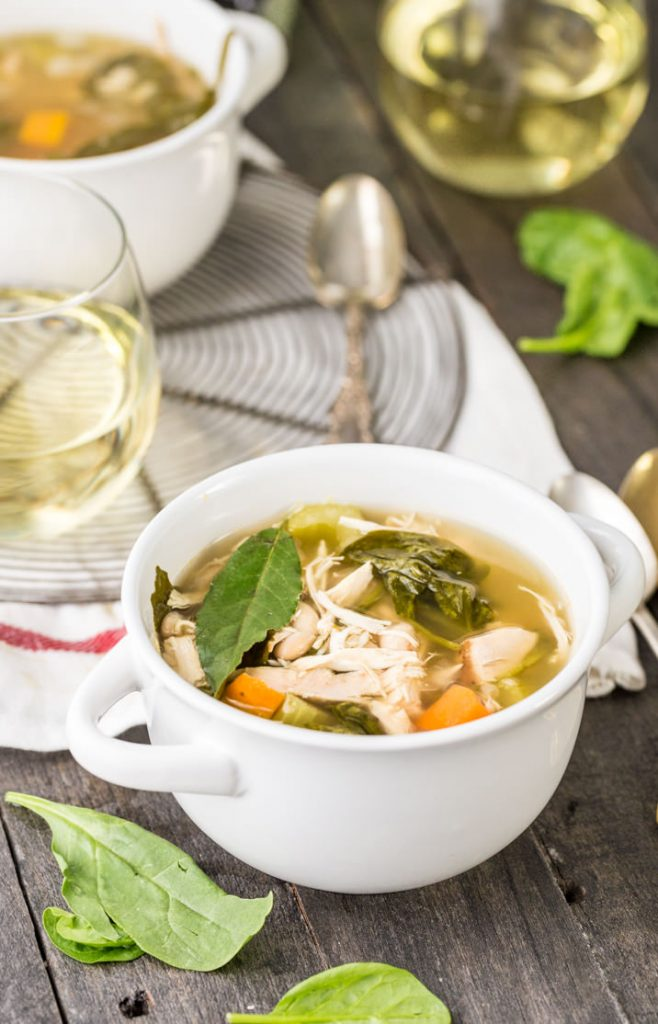 Crockpot Tuscan Chicken Soup {The Cookie Rookie}
