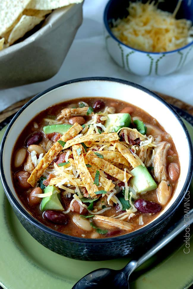 Sweet and Smokey BBQ Chicken Chili